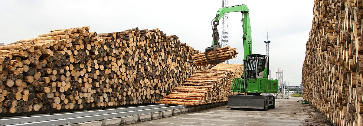 Wood Yard at WWCB Plant